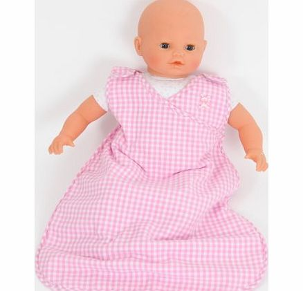 FRILLY LILY PINK FLEECE LINED SLEEPING BAG FOR 12-14 DOLLS[ DOLL NOT INCLUDED ]Such as My First Baby Annabell, My Little Baby Born